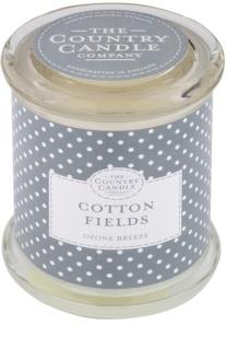 Country Candle Cotton Fields vonná svíčka   ve skle s víčkem