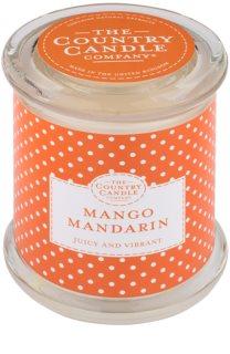 Country Candle Mango Mandarin Duftkerze    im Glas mit Deckel