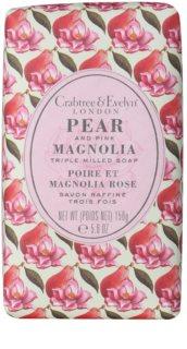 Crabtree & Evelyn Pear & Pink Magnolia Feinseife mit feuchtigkeitsspendender Wirkung