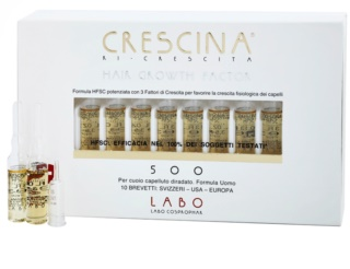 Crescina HAIR GROWTH FACTOR 500 Re-Growth Treatment in Ampoules for Medium Hair Loss