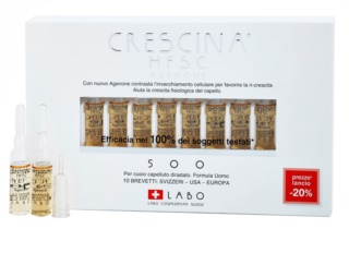Crescina HFSC AGENONE 500 Re-Growth Treatment in Ampoules for Medium Hair Loss For Men