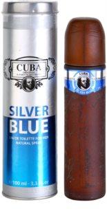 Cuba Silver Blue Eau de Toilette para homens 100 ml