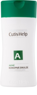 CutisHelp Health Care A - Acne emulsión limpiadora de cáñamo para pieles problemáticas y con acné