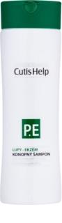 CutisHelp Health Care P.E. - Dandruff - Eczema champú de cáñamo para calmar los síntomas del eczema y caspa