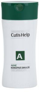 CutisHelp Health Care A - Acne konopna emulsja oczyszczająca do skóry z problemami