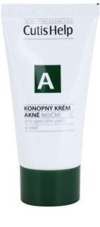CutisHelp Health Care A - Acne crema de noche de cáñamo para pieles problemáticas y con acné