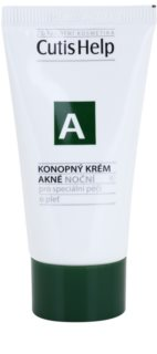 CutisHelp Health Care A - Acne Night Cream with Hemp for Problematic Skin, Acne