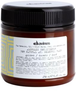 Davines Alchemic Golden condicionador hidratante para enfatização de cor de cabelo