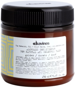 Davines Alchemic Golden Moisturizing Conditioner for Hair Color Enhancement