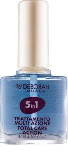 Deborah Milano Nail Care base e top coat per unghie 5 in 1