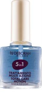 Deborah Milano Nail Care base et top coat 5 en 1