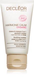 Decléor Harmonie Calm Bio masque et crème légère apaisante 2 en 1