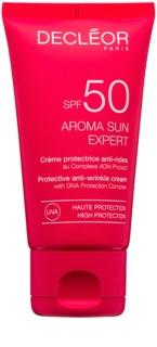 Decléor Aroma Sun Expert крем для засмаги обличчя з ефектом корекції зморшок SPF 50
