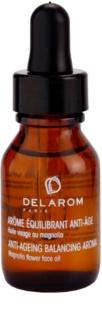 Delarom Anti Ageing óleo facial anti-envelhecimento com aroma de flor de magnólia