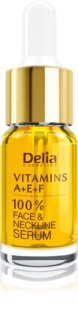 Delia Cosmetics Professional Face Care Vitamins A+E+F sérum antirrugas para rosto e decote