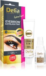 Delia Cosmetics Eyebrow Expert Wenkbrauw en Wimper verf met applicator