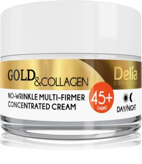 Delia Cosmetics Gold & Collagen 45+ crème anti-rides raffermissante