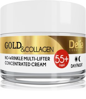 Delia Cosmetics Gold & Collagen 55+ creme antirrugas com efeito lifting
