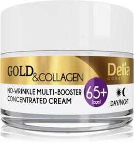 Delia Cosmetics Gold & Collagen 65+ creme antirrugas com efeito regenerador