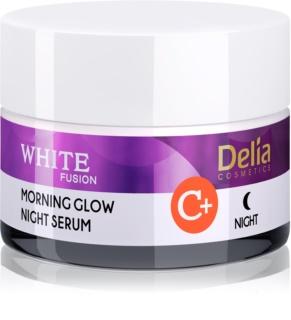 Delia Cosmetics White Fusion C+ creme de noite iluminador antirrugas