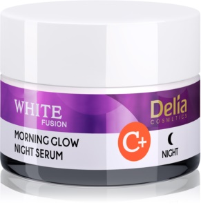 Delia Cosmetics White Fusion C+ λαμπρυντική κρέμα νύχτας ενάντια στις ρυτίδες