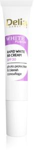 Delia Cosmetics White Fusion C+ BB creme de brilho contra manchas de pigmentação SPF 30