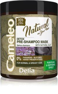 Delia Cosmetics Cameleo Natural φροντίδα πριν τη περιποιήση με σαμπουάν για λιπαρά μαλλιά