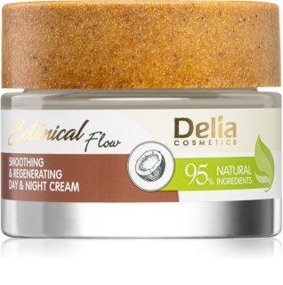 Delia Cosmetics Botanical Flow Coconut Oil gladmakende dag- en nachtcrème voor Regeneratie van de Huid
