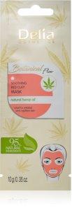 Delia Cosmetics Botanical Flow Hemp Oil maschera lenitiva viso per pelli sensibili e irritate