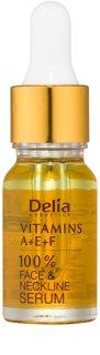 Delia Cosmetics Professional Face Care Vitamins A+E+F Antifalten Serum Für Gesicht und Dekolleté