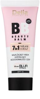 Delia Cosmetics Optical Blur Effect Beauty Balm feuchtigkeitsspendende BB Creme gegen kleine Makel der Haut LSF 15