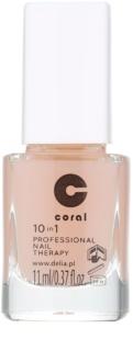 Delia Cosmetics Coral επαγγελματική φροντίδα για τα νύχια 10 σε 1