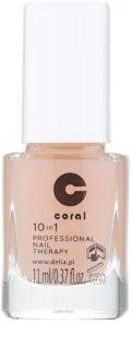 Delia Cosmetics Coral tratamento de unhas profissional 10 em 1