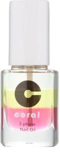 Delia Cosmetics Coral óleo de trifásico para unhas e cutículas