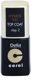 Delia Cosmetics Coral Nail Enamel Hybrid Gel Gel Top Coat