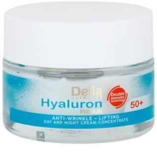 Delia Cosmetics Hyaluron Fusion 50+ festigende Anti-Faltencreme