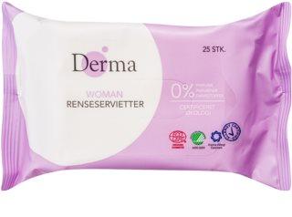 Derma Woman toalhitas de limpeza húmidos