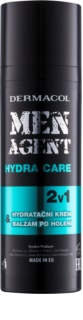 Dermacol Men Agent Hydra Care bálsamo after shave hidratante  2 em 1