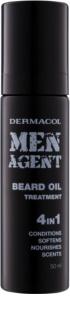 Dermacol Men Agent aceite para el cuidado de la barba 4 en 1