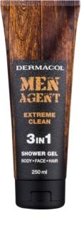 Dermacol Men Agent Extreme Clean gel de duche 3 em 1