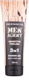 Dermacol Men Agent Sensitive Feeling gel de duche 3 em 1