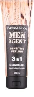 Dermacol Men Agent Sensitive Feeling tusfürdő gél 3 az 1-ben