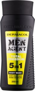 Dermacol Men Agent Total Freedom gel de douche 5 en 1
