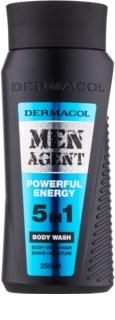 Dermacol Men Agent Powerful Energy gel de duche 5 em 1