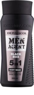 Dermacol Men Agent Black Box tusoló gél  5 in 1
