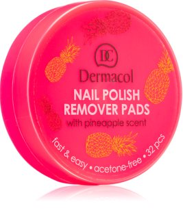 Dermacol Nail Polish Remover Pads dissolvant ongles sans parfum