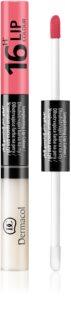 Dermacol 16H Lip Colour μακράς διαρκείας διφασικό χρώμα και λιπ γκλος