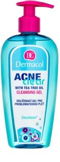 Dermacol Acneclear gel démaquillant purifiant pour peaux à problèmes