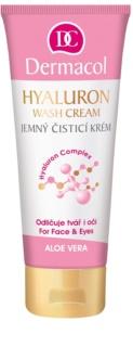 Dermacol Hyaluron crema limpiadora suave para rostro y ojos