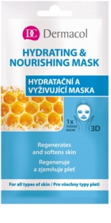 Dermacol Hydrating & Nourishing Mask textilná 3D hydratačná a vyživujúca maska